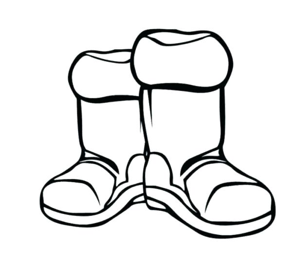 Winter Boots Drawing