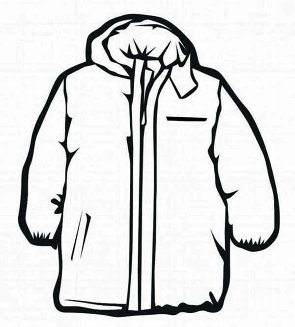 Winter Coat Drawing