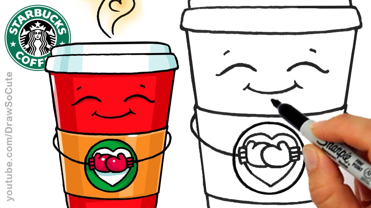 1280x720 How To Draw A Hot Starbucks Drink Step