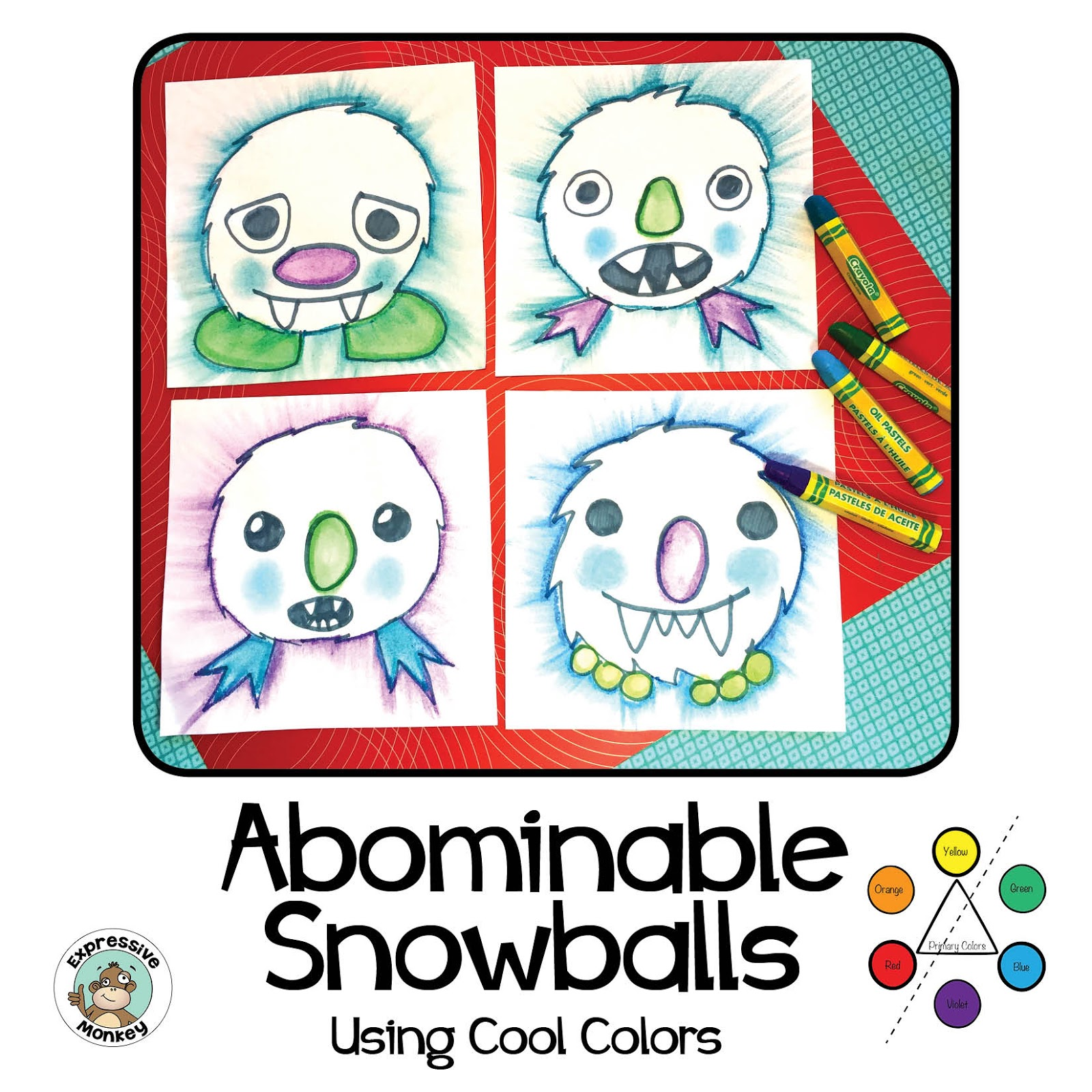 1600x1600 Oil Pastel Technique For Abominable Snowballs Expressive Monkey