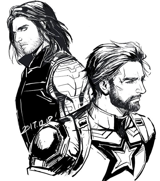 Winter Soldier Drawing
