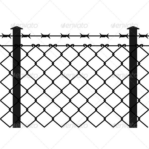 590x590 wire fence with barbed wires fence icon wire fence, barbed