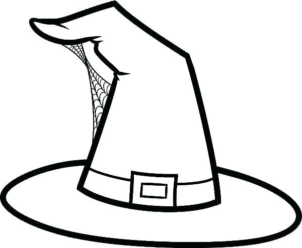 image relating to Witches Hat Template Printable identify Witch Hat Drawing Free of charge obtain ideal Witch Hat Drawing upon