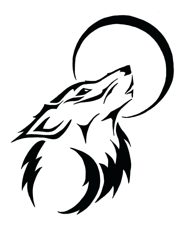 736x940 Easy To Draw Tribal Wolf Moon Drawing How To Draw Tribal Tattoo
