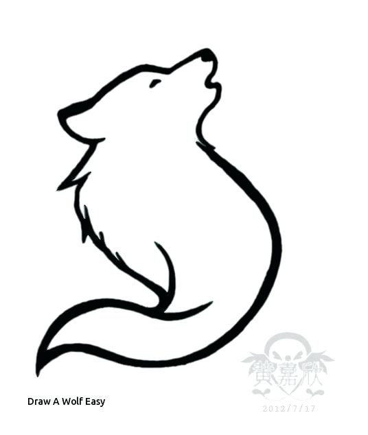 536x634 Simple Wolf Drawing