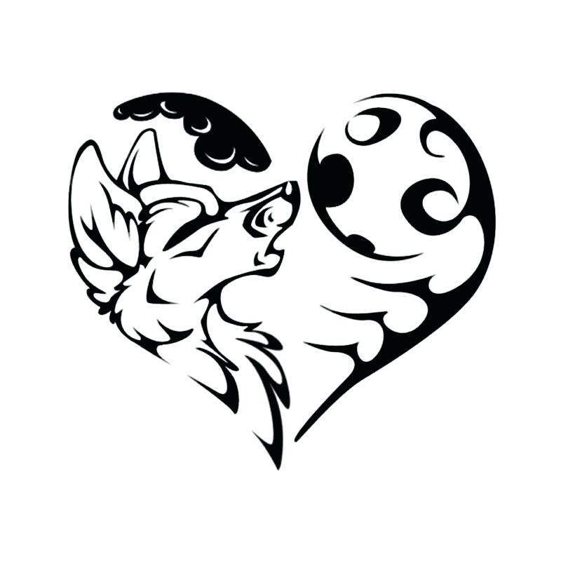 800x800 Wolf And Moon Coloring Pages