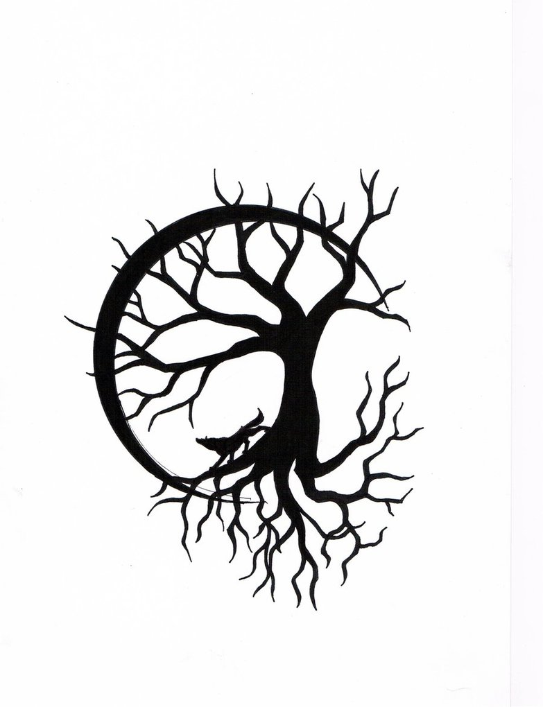 783x1020 Clipart Moon Wolf Tree Clip Art Images