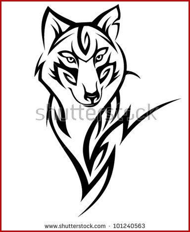 384x470 tribal wolf drawing draw a tribal wolf tribal wolf step