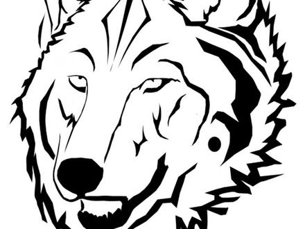 440x330 Wolf Face Coloring Page, Face Wolf Mask Coloring