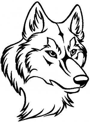 300x406 Outline Of A Wolf Head Search Wolves In Wolf Outline