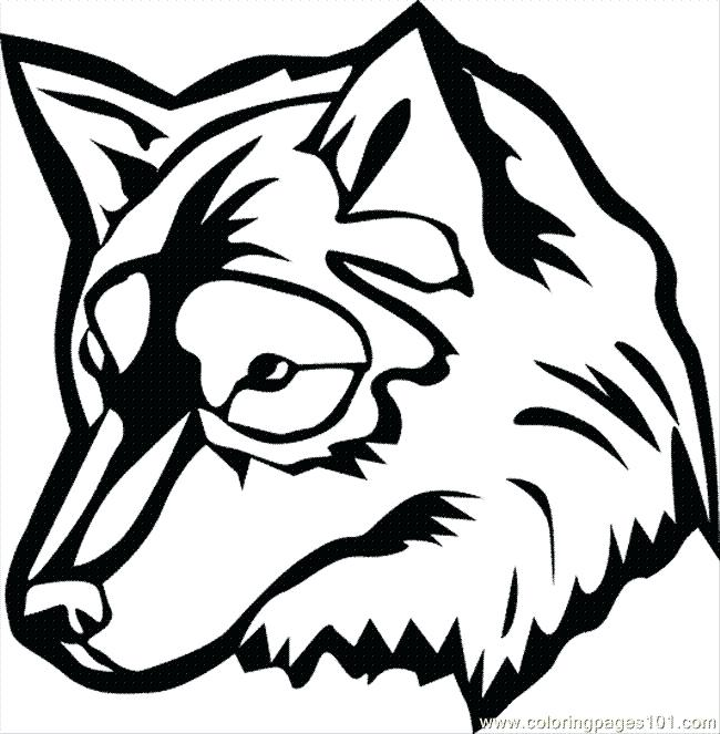 650x663 Wolf Face Coloring