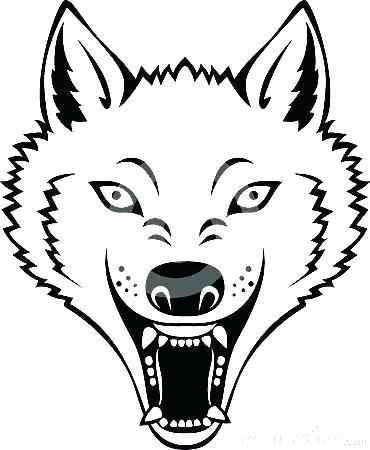 370x450 Wolf Face Outline