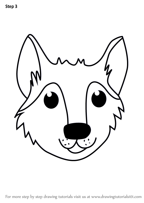 Wolf Front View Drawing