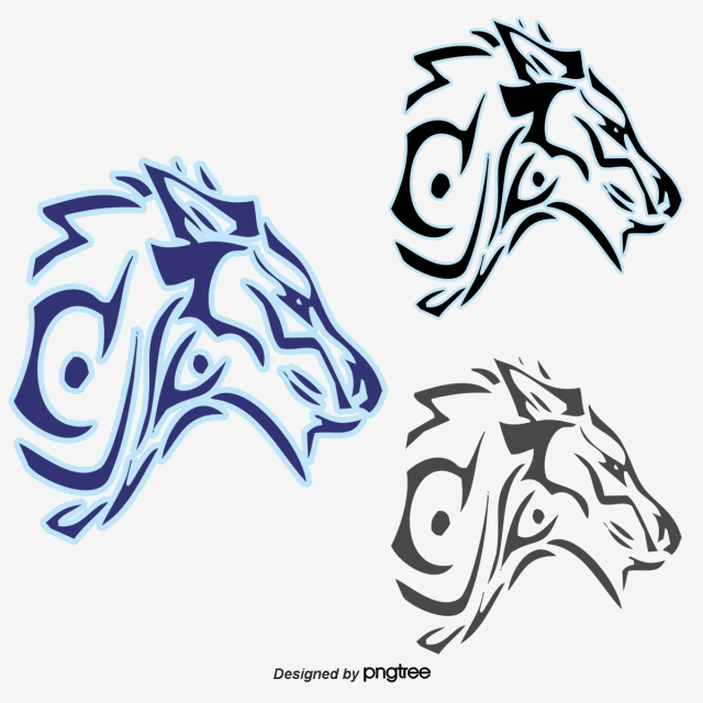 640x640 cartoon hand painted blue wolf, wolf head, cartoon wolf, blue wolf