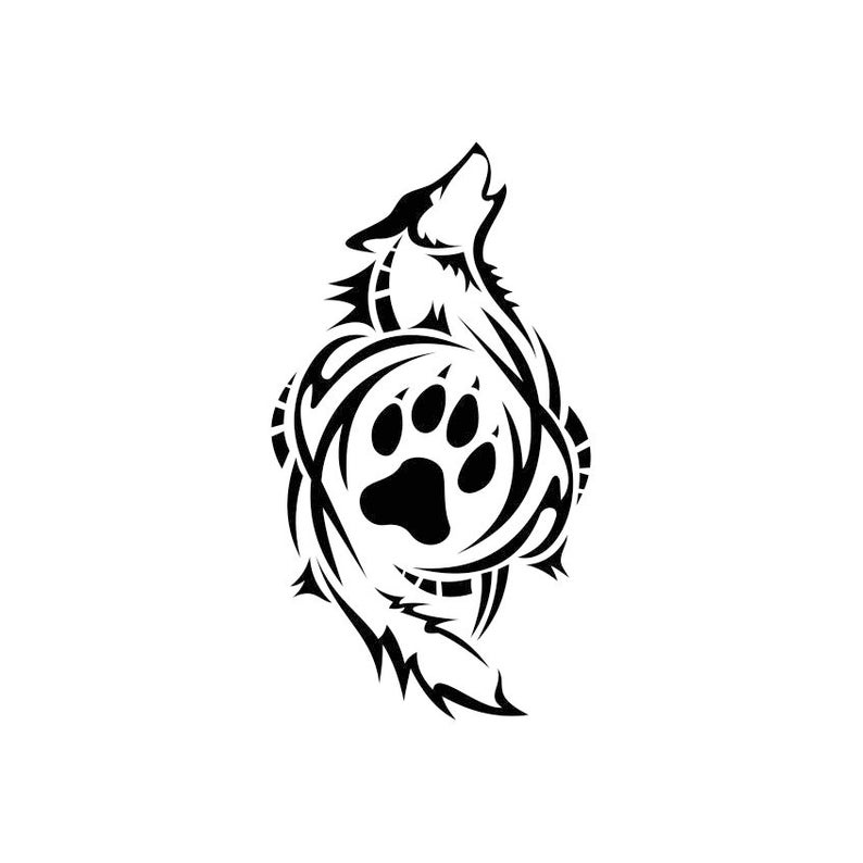 794x794 Tribal Wolf Paw Graphics Dxf Png Cdr Pdf Vector Art Etsy