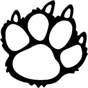 300x300 Wolf Paw Track Wildlife Window Decals Stickers