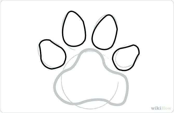 670x434 how to draw a paw draw a paw print draw dog paw print