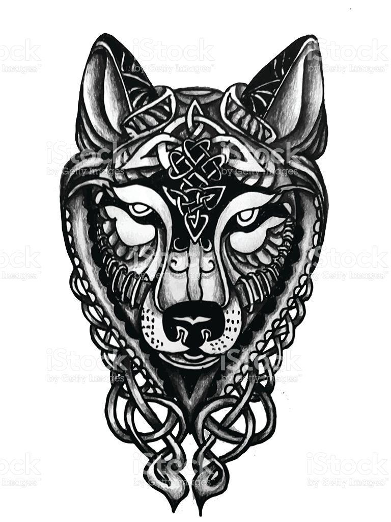 768x1024 Ideas Enraged Celtic Tattoosamaelwolf Celtic Wolf Paw Print Png