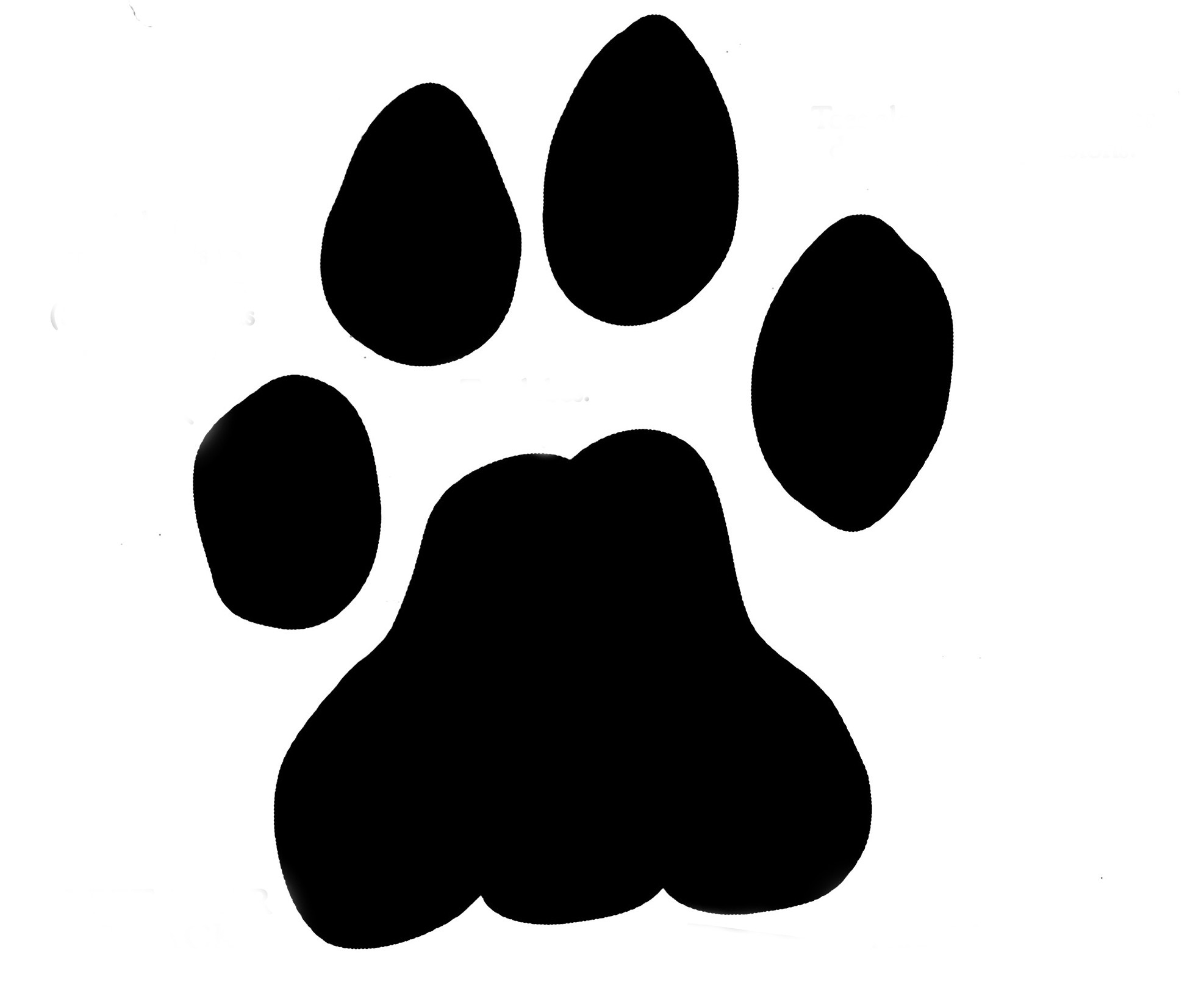 1974x1638 Wolf Paw Clipart