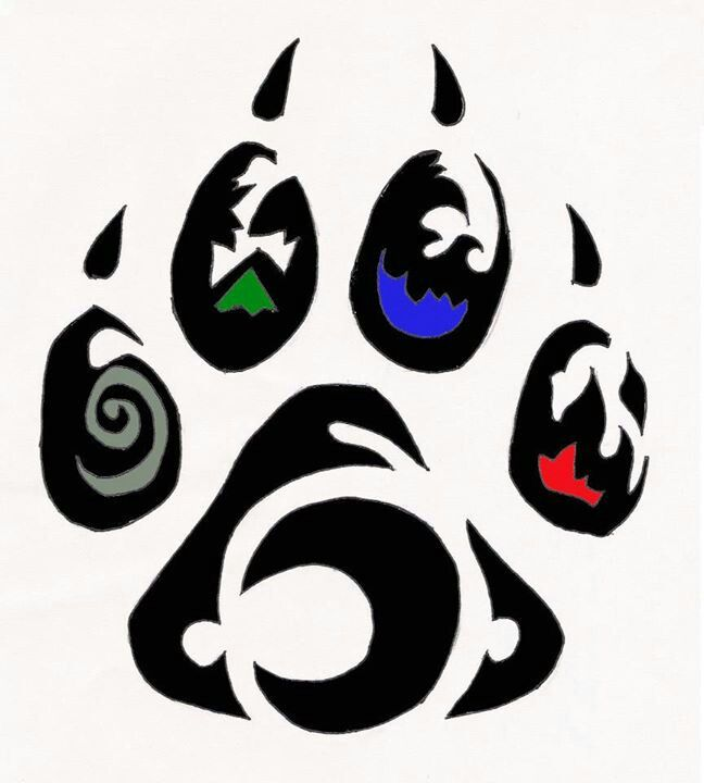 648x720 Bear Paw Print Stencil Free Download Clip Art