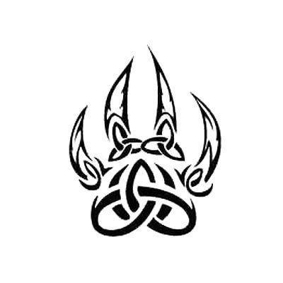 400x400 Wolf Paw Tattoo Designs