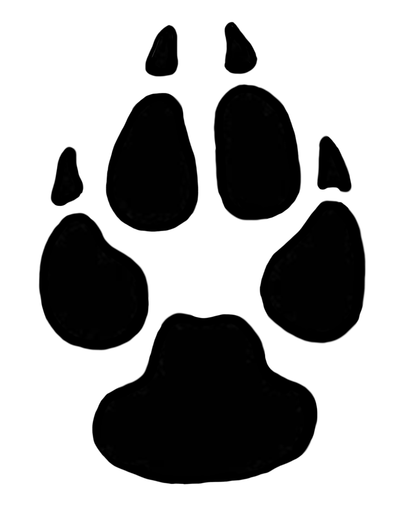 820x1063 Wolf Paw Print Download Free Clipart With A Transparent Background