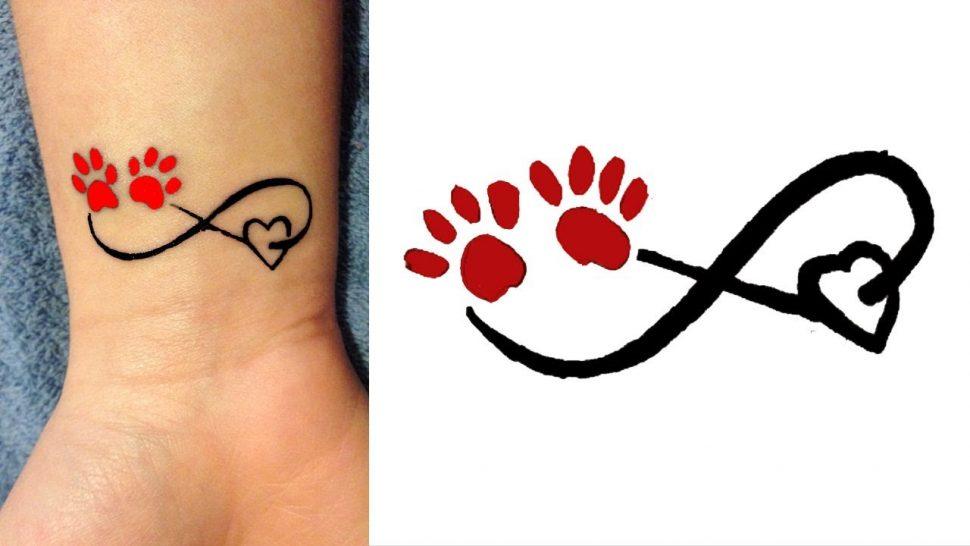 970x546 Creative Tattoos Cool Paw Print Tattoo Ideas Heart Shockings