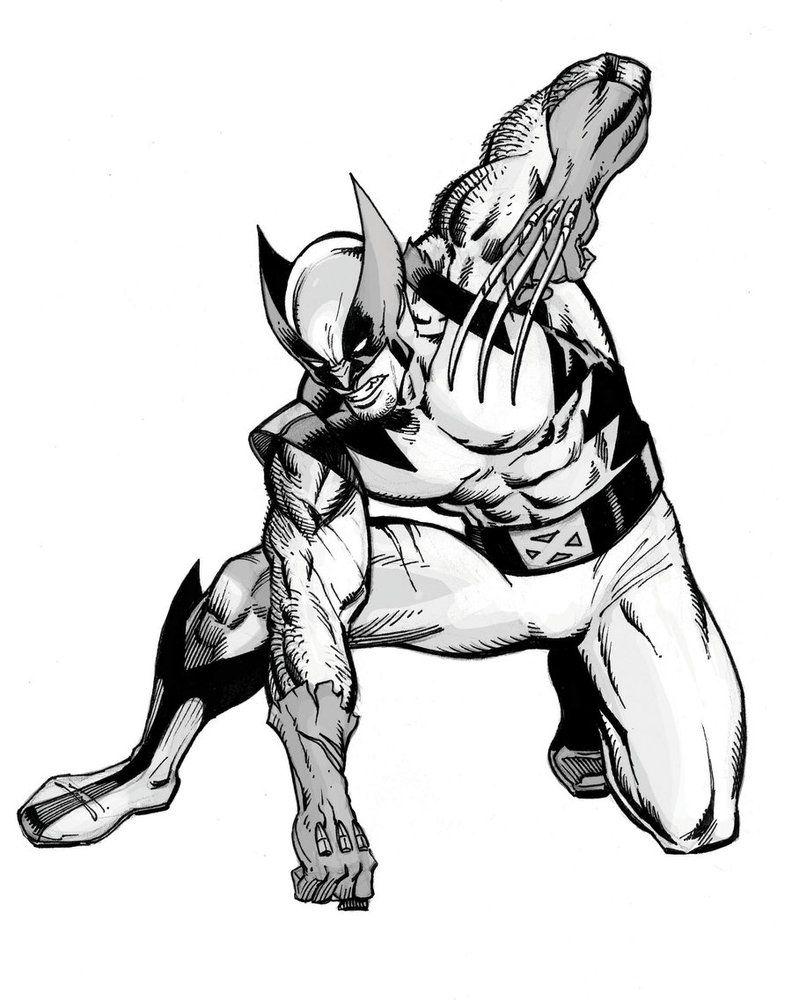 792x1008 wolverine marvel heroes phreek sketches, wolverine, black
