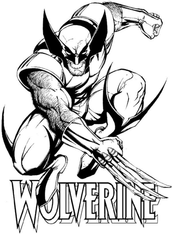 600x812 x men coloring pages wolverine free printable wolverine coloring