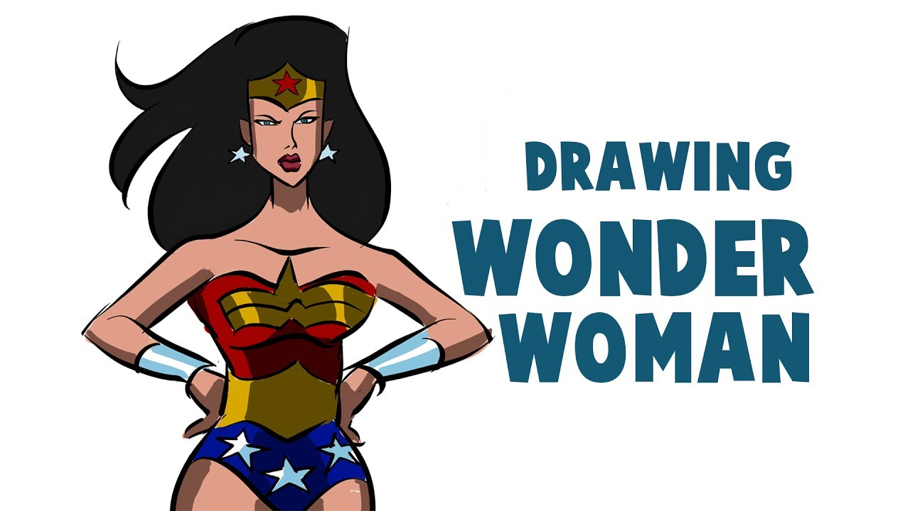 1280x720 drawing wonder woman cartoon how to draw wonder woman