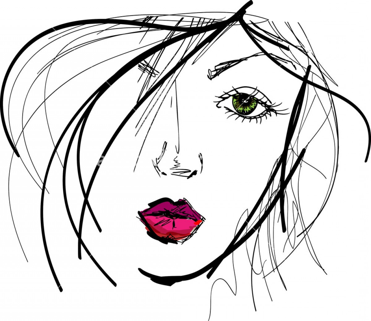 1200x1039 Sketch Of Beautiful Woman Face Vector Illustration Rdxenrmdwjgovc