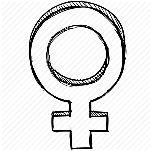 512x512 Drawing, Female, Gender, Sign, Sketch, Venus, Woman Icon