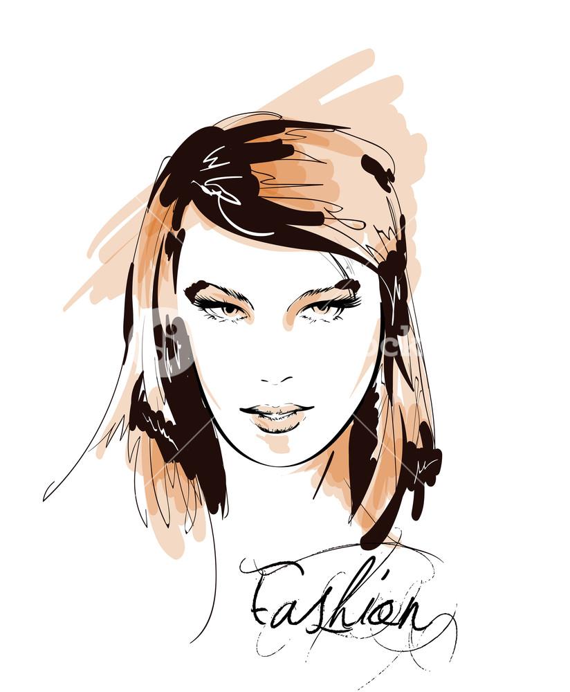 824x1000 Fashion Girls Face Woman Face Hand Drawn Fashion Model Royalty
