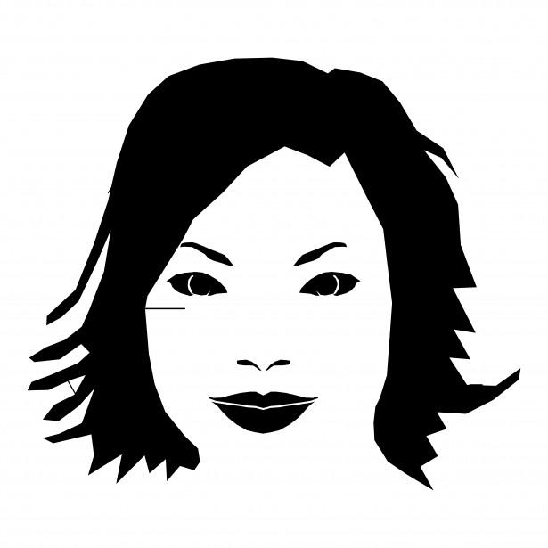 615x615 Beautiful Woman Face Drawing Free Stock Photo