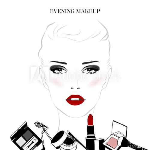 500x500 Makeup Tutorial, Evening Makeup Beautiful Female Woman Face