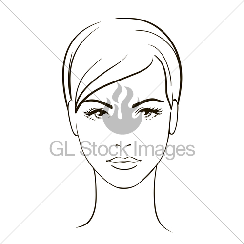 500x500 Young Woman Face Gl Stock Images