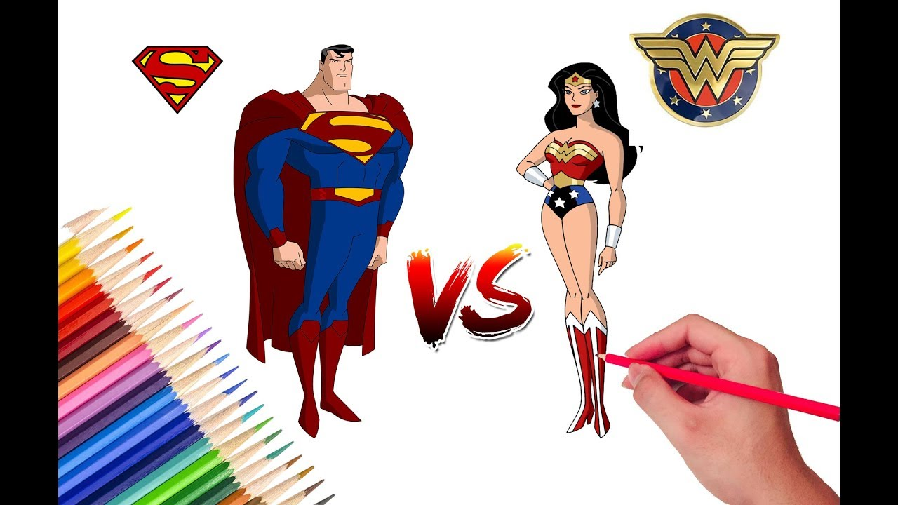 1280x720 superman and wonderwoman