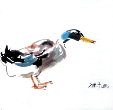 375x365 duck ink painting duck painting duck drawing duck watercolour