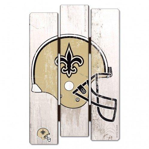 498x498 New Orleans Saints Wood Fence Sign