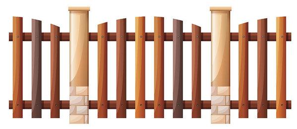 599x261 Seamless Wooden Fence Design Art Print