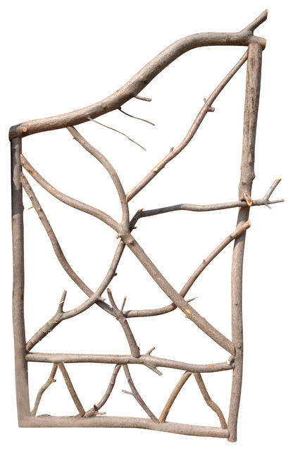 416x640 Wood Fence Garden Gate, Serviceberry Branches