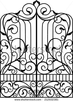236x328 New Design Wrought Iron Panels For Fence Gate Wholesale
