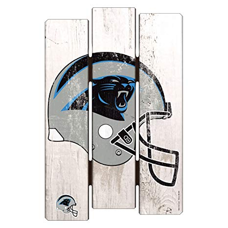 466x466 Nfl Carolina Panthers Wood Fence Sign, X