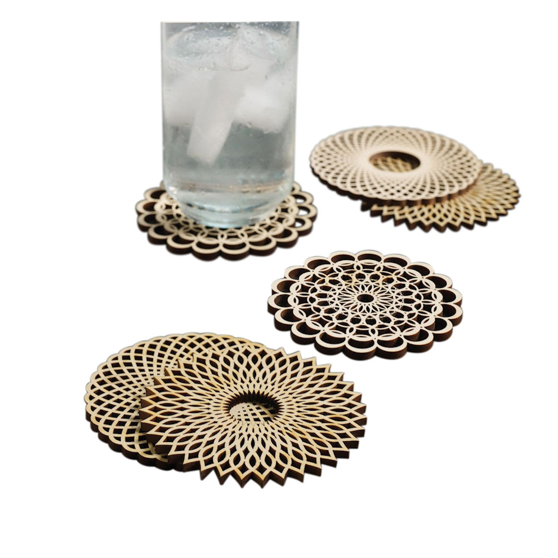 1500x1500 Shop Wooden Spiral Coasters
