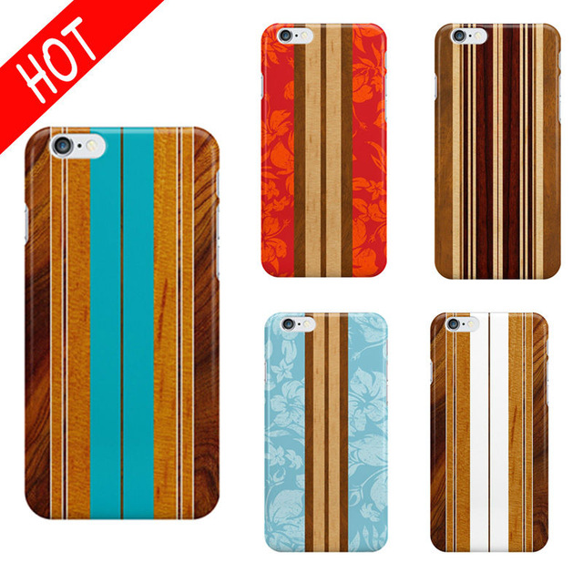 640x640 Colorful Drawing Printing Wood Skin Pattern Phone Cases For Fundas