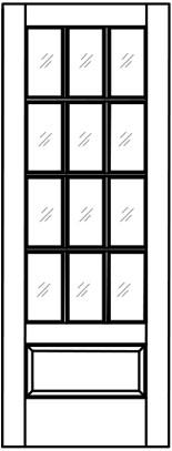155x407 Raised Wood Panel Doors Woodport Doors