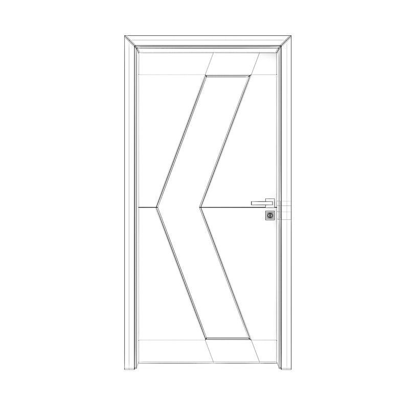 800x800 Wooden Interior Door Model