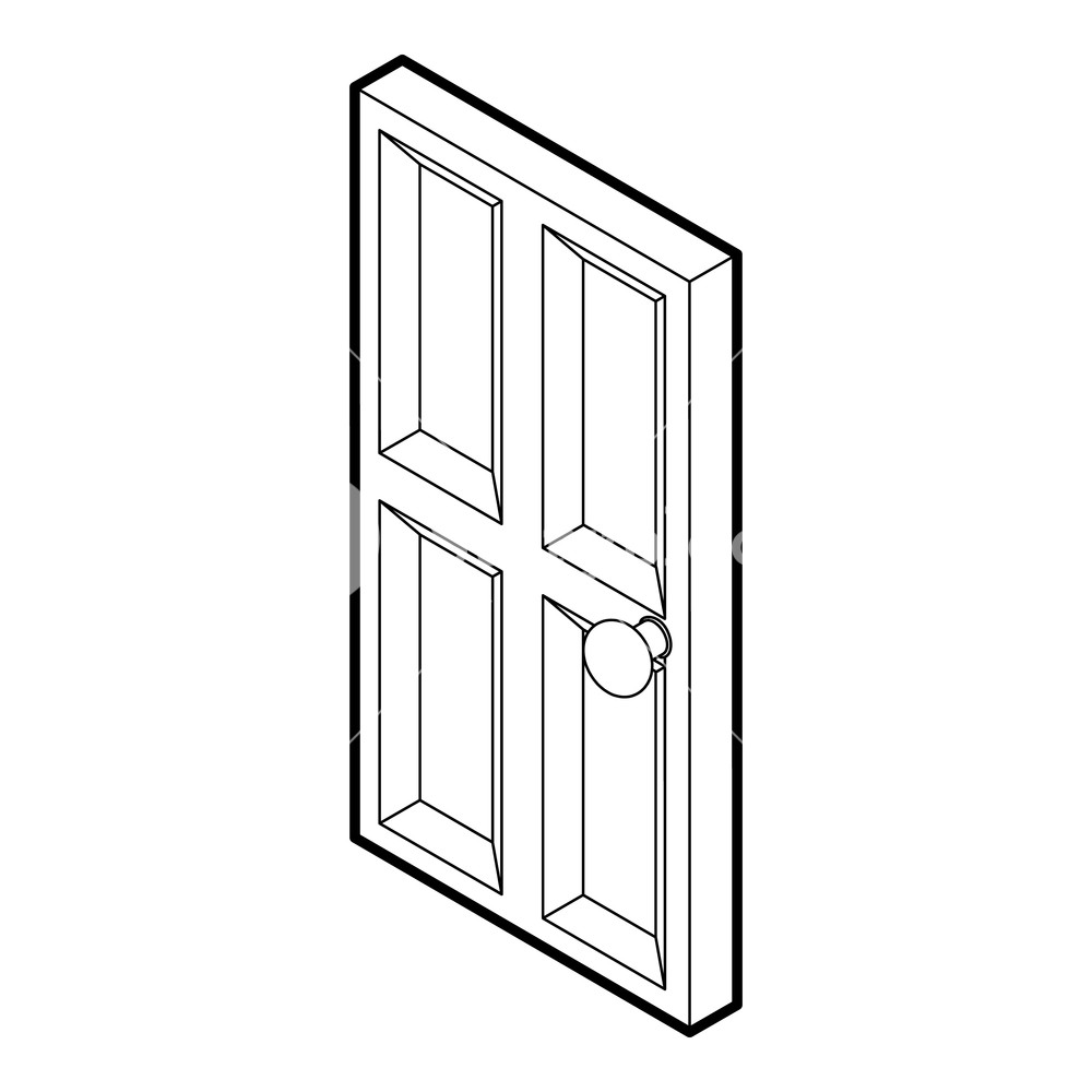 1000x1000 wooden door icon outline illustration of door wooden door icon