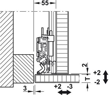 350x305 Wooden Pivot Sliding Doors, Finetta Spinfront Set