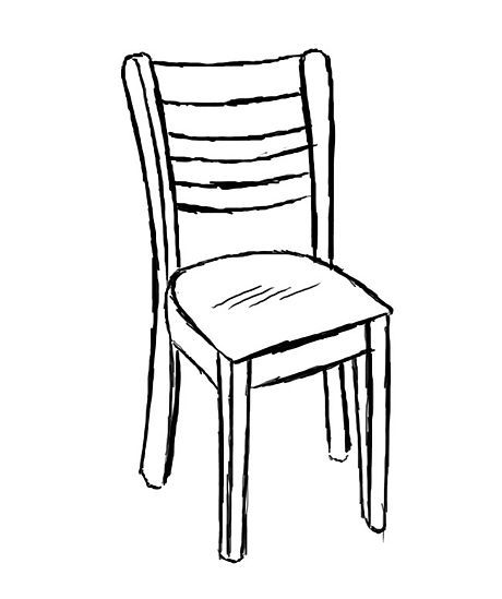 460x549 draw a chair art printmaking chair drawing, chair, funky chairs